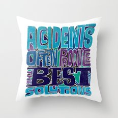 Accidents Throw Pillow