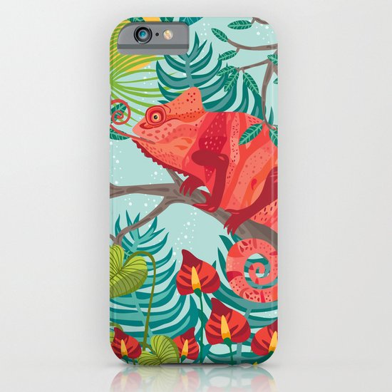 The Red Chameleon  iPhone & iPod Case