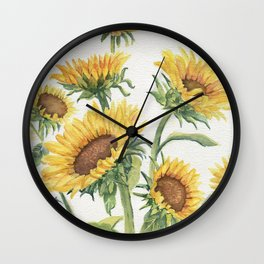 Blooming Sunflowers Wall Clock