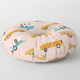 Retro Road Trip – Pink Palette Floor Pillow