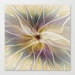 Floral Fantasy, Abstract Fractal Art Canvas Print