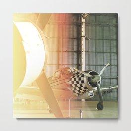 Vintage plane#leaklight#effect Metal Print