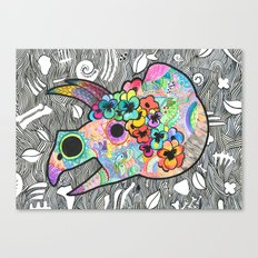 Day of the Dead Dino Canvas Print