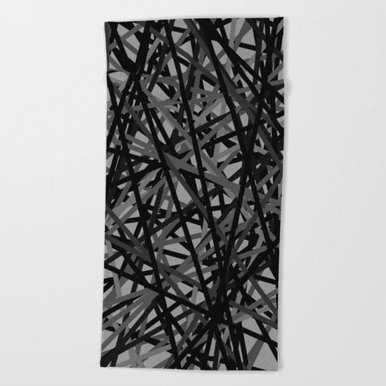 Kerplunk Extended Black and White Beach Towel
