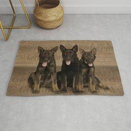 German Shepherd Puppies Rug