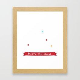 German Shepherd Christmas Tree  Framed Art Print