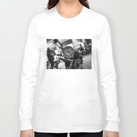 motorcycle Long Sleeve T-shirts featuring Motorcycle by James Tamim