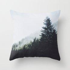 Forest Fog VI Throw Pillow