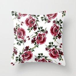 Christmas Rose  Throw Pillow