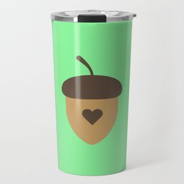 Acorn with heart T-Shirt for Women, Men and Kids Travel Mug