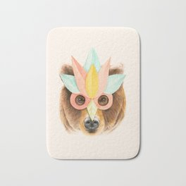 The Bear with the Paper Mask Bath Mat