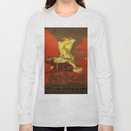 Vintage poster - Tosca Long Sleeve T-shirt