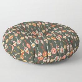 Tree Ornaments Floor Pillow