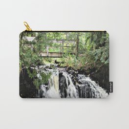 Bridge Over Waterfall Carry-All Pouch