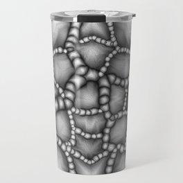 Chaotic Clusters Macro Abstract Travel Mug