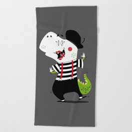 T-Rex Mime Beach Towel