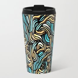 abstact leaves Travel Mug