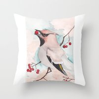 bohemian Throw Pillows featuring Bohemian by Tanya HD