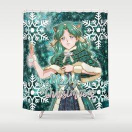Merry Xmas Michiru! Shower Curtain