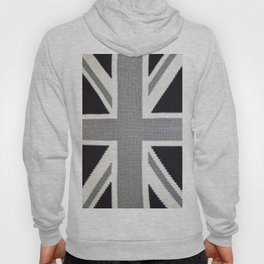 Crochet Monochrome Union Jack Hoody