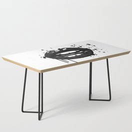 Black and white glamour fashion lips Coffee Table