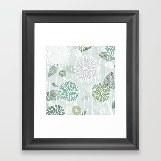 Abstract Floral by Friztin Framed Art Print