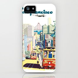 Sanfrancisco vintage mode iPhone Case