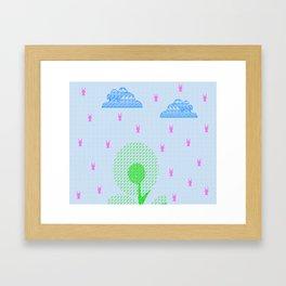 Let us fly together :) Framed Art Print