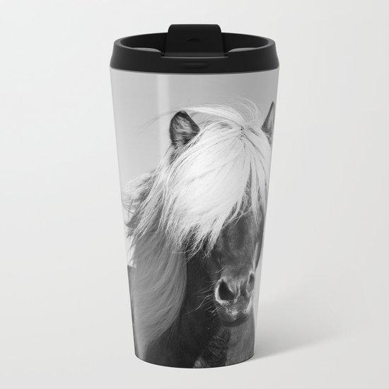 Portrait of a Horse in Scotish Highlands Metal Travel Mug