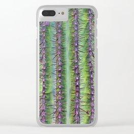 Cactus Closeup Clear iPhone Case