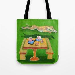 Greyhound Spirit, an Animal Spirit painting Tote Bag