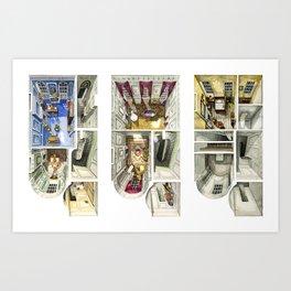 PHANTOM THREAD. The London House Art Print