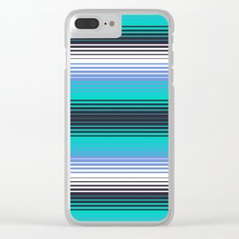 Deconstructed Serape in Teal Clear iPhone Case
