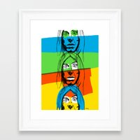iggy Framed Art Prints featuring Iggy by Mohac