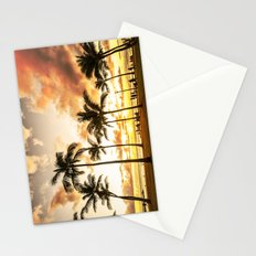 Typical Picturesque Waikiki Beach Sunset Stationery Cards