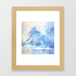 Blue Ice Mountains :: Fine Art Collage Framed Art Print