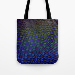 Fractal Descent - Psychedelic Void Geometric Optical Illusion Trippy Colorful Design Tote Bag