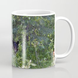 Mother bear hides in the trees- Canadian Rocky Mountains Coffee Mug