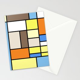 The Colors of / Mondrian Series - To toro - Miyazaki Stationery Cards