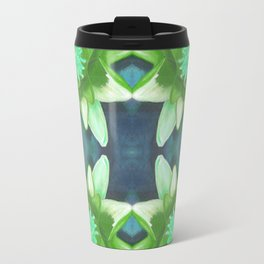 Teal Green Bromeliad Pattern Travel Mug