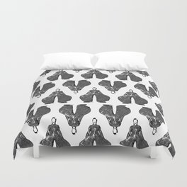 Bowie pattern bw Duvet Cover