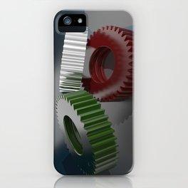 Italian gears, precision mechanics iPhone Case
