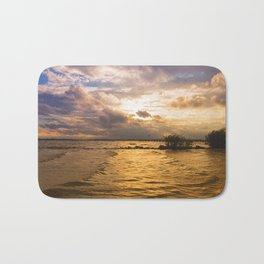 Weather over the lake Bath Mat