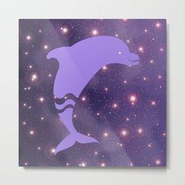 Dolphin in Universe _E04 Metal Print