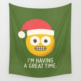 White Knuckle Christmas Wall Tapestry