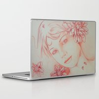 leah flores Laptop & iPad Skins featuring Flores. by marmaseo