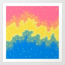 Pan Pride Flag Galaxy Art Print