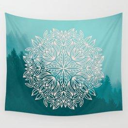 Mandala Forest Dawn Wall Tapestry