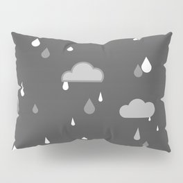 Grey Rains Pillow Sham