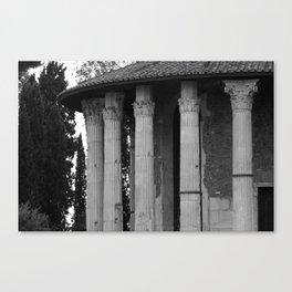 Temple of Vesta Rome Italy Canvas Print